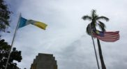 Flags of Penang and Malaysia