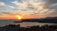 Sunset toward Split