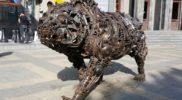 Metal Bear, Charles Aznavour Square