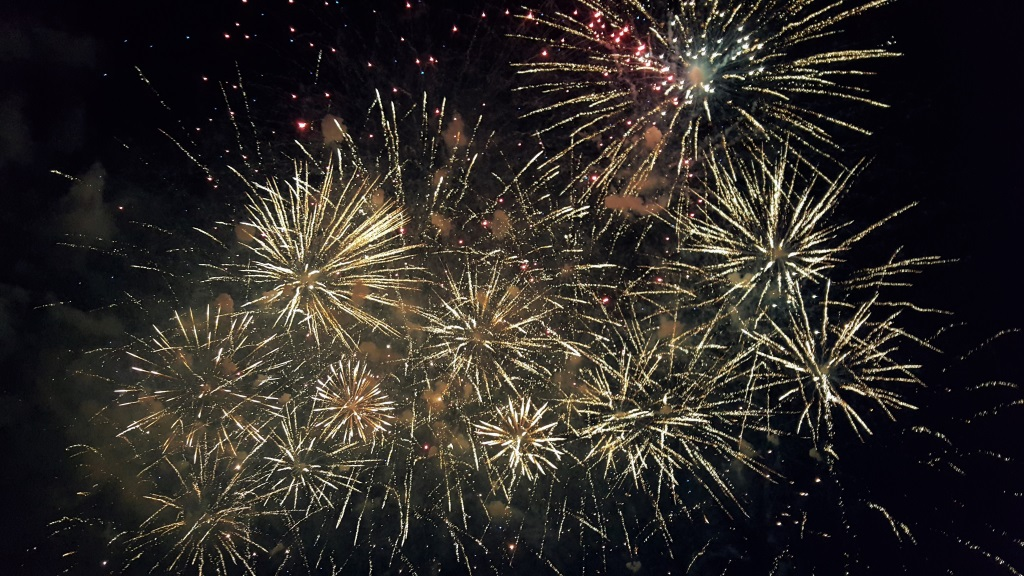 Statehood Day Fireworks, Vilnius, Lithuania