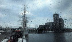 Rainy Morning on the Ferry to Hel, Gdynia, Poland
