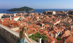 Looking over Dubrovnik, Croatia