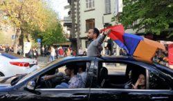 Celebrating the PM's Resignation, Yerevan, Armenia