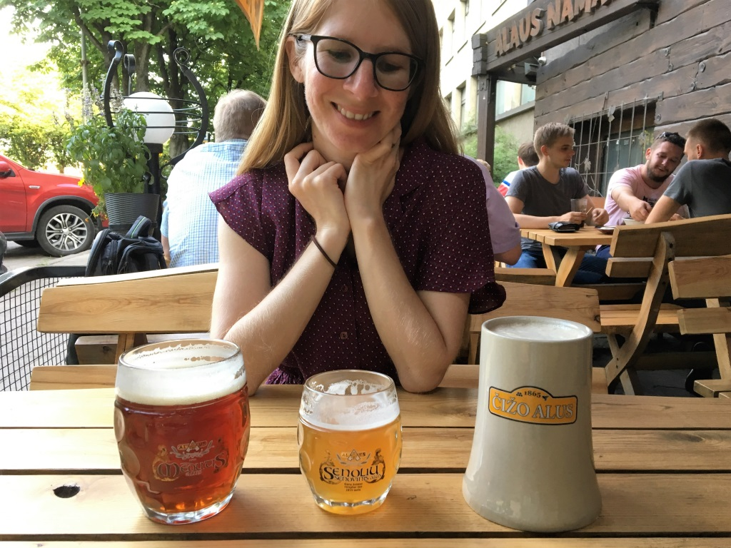Beer at Alus Namai, Vilnius, Lithuania