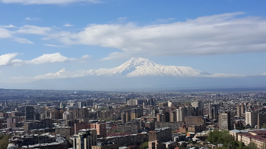 Mount Ararat behind Yerevan, Armenia