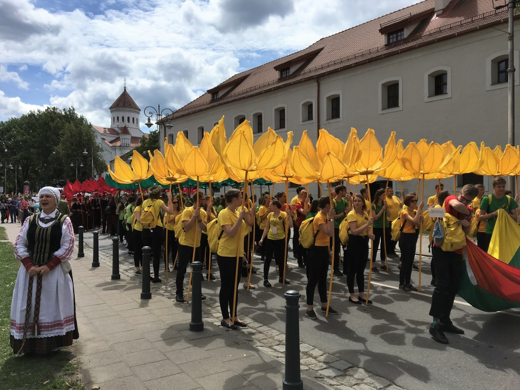 Lithuanian Colors at Song Day, Vilnius, Lithuania