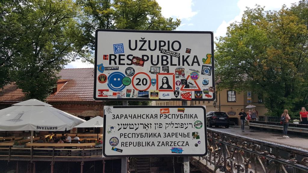 Borders of the Uzupis Republic, Vilnius, Lithuania