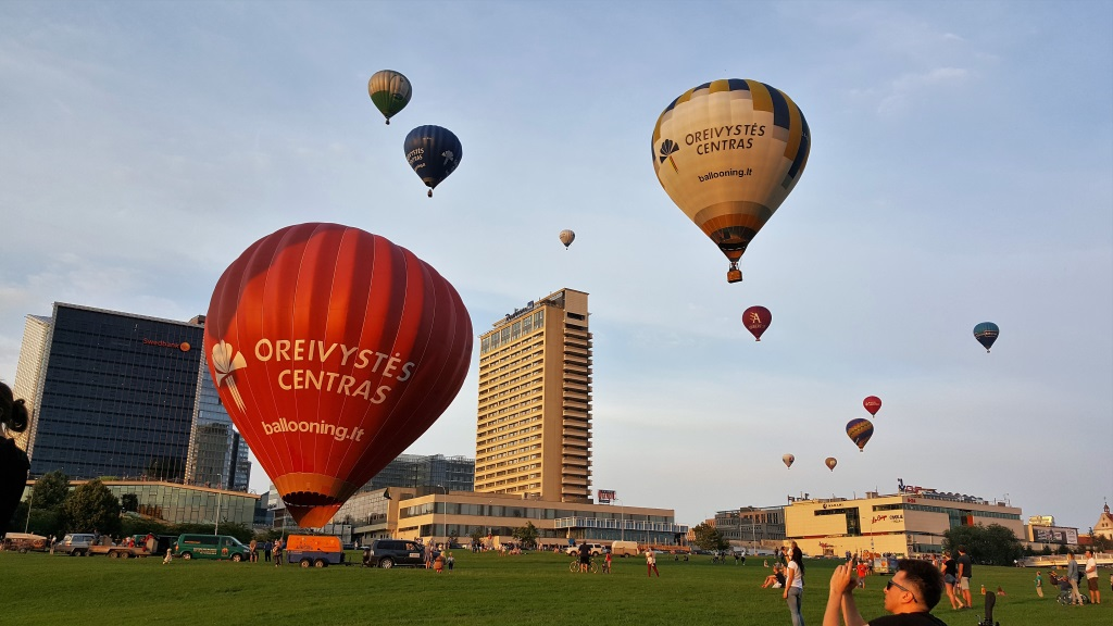 Hot Air Balloon Launch, Vilnius, Lithuania