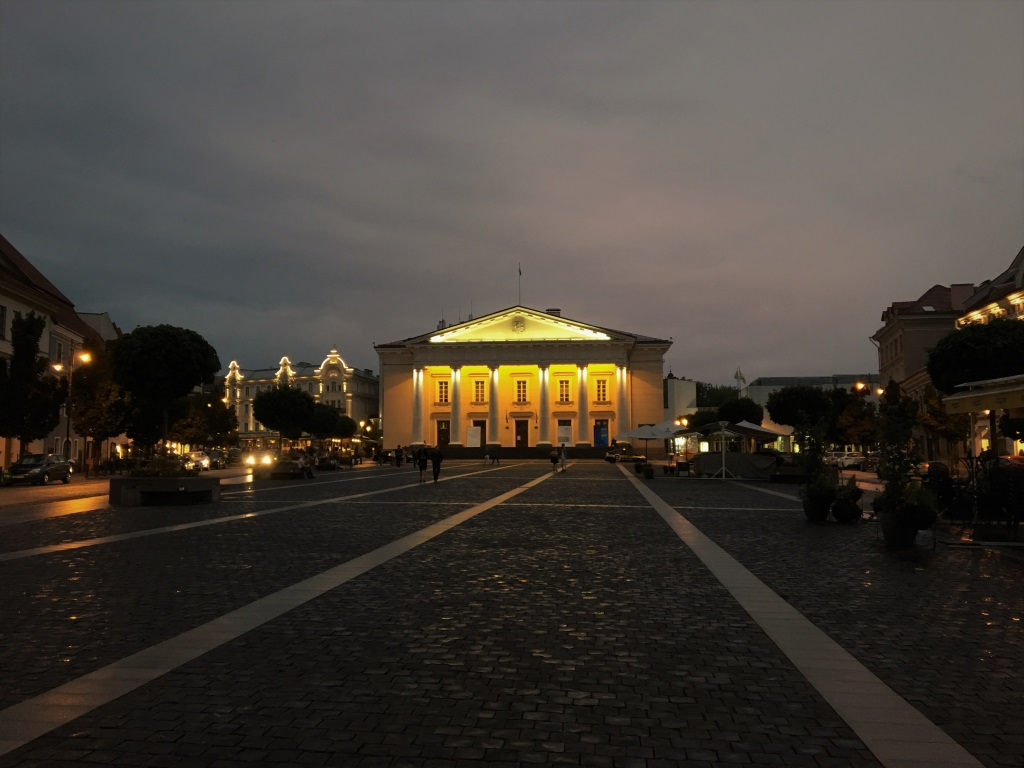 Town Hall at Night, Vilnius, Lithuania