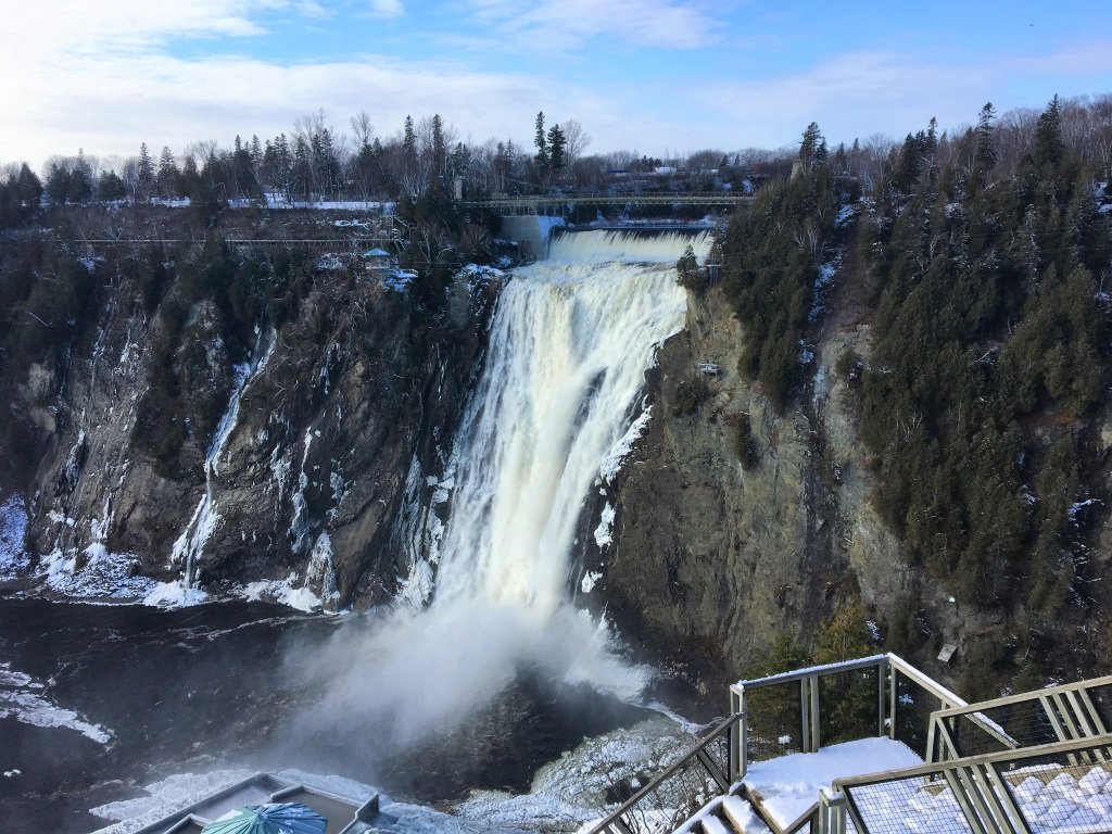 Montmorency Falls in Winter, Quebec, Canada