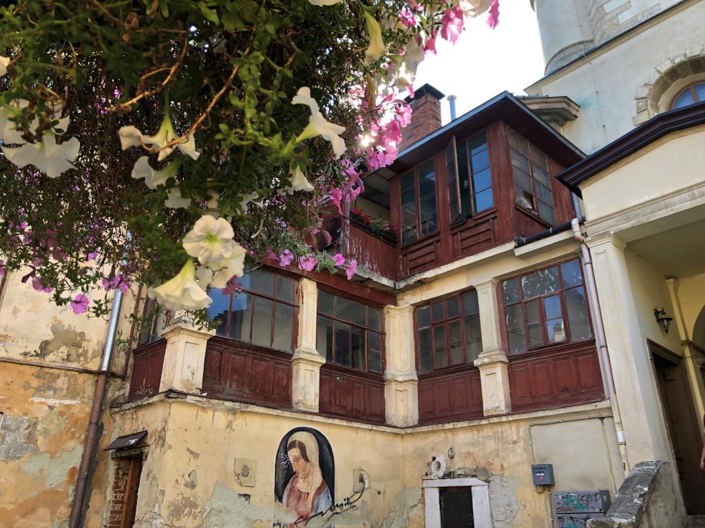 Old Town Courtyard, Lviv, Ukraine