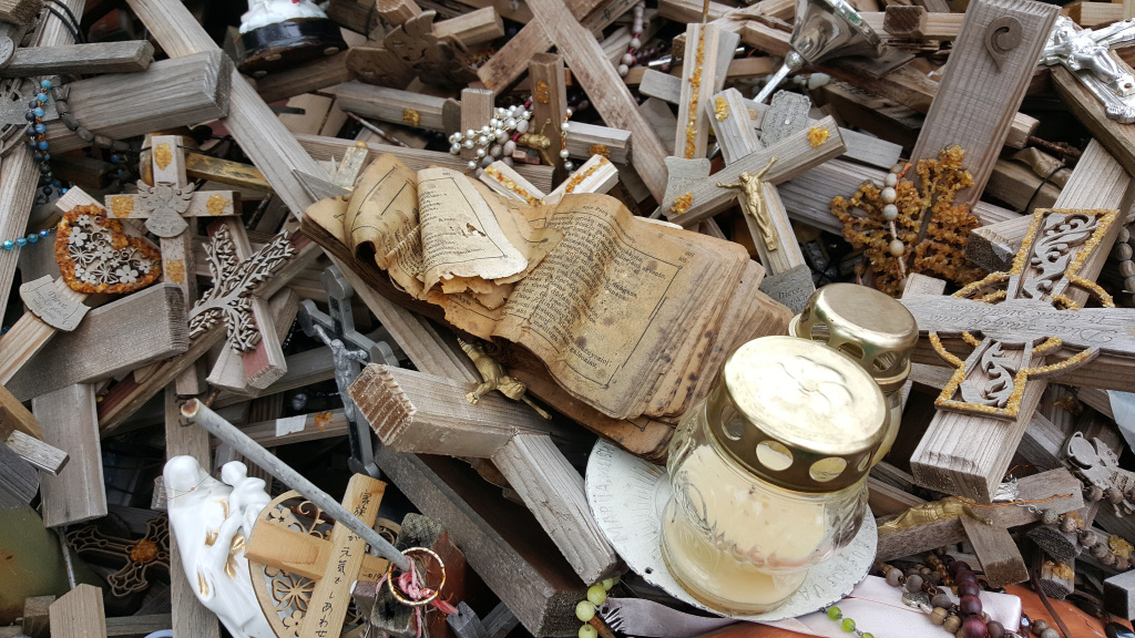 Abandoned Book on the Hill of Crosses, Siauliai, Lithuania