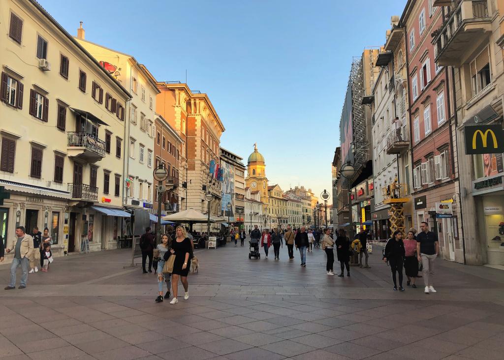Walking Street, Rijeka, Croatia