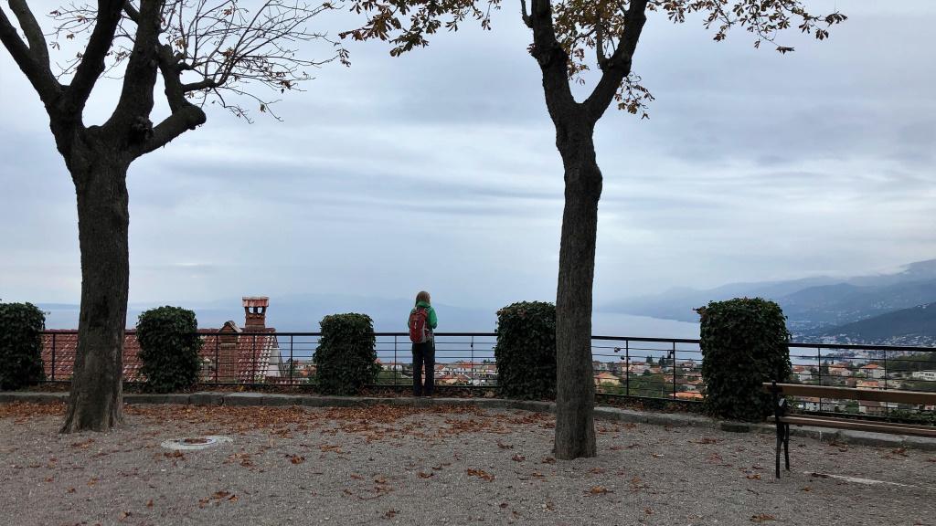 Looking at the Kvarner Gulf, Kastav, Croatia