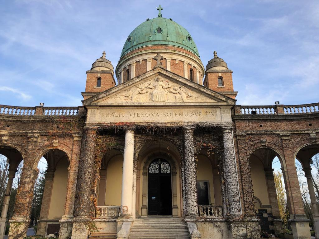 Entrance to Mirogoj, Zagreb, Croatia