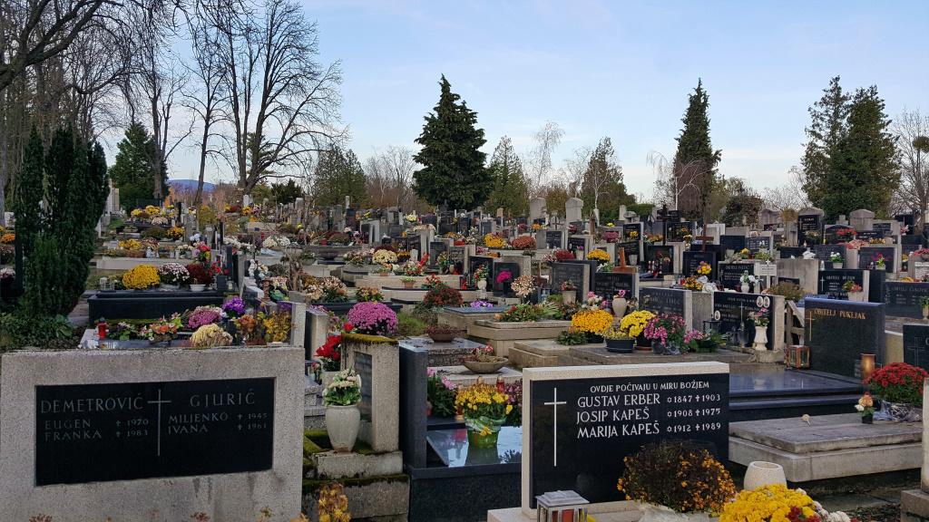 Graves in Mirogoj, Zagreb, Croatia