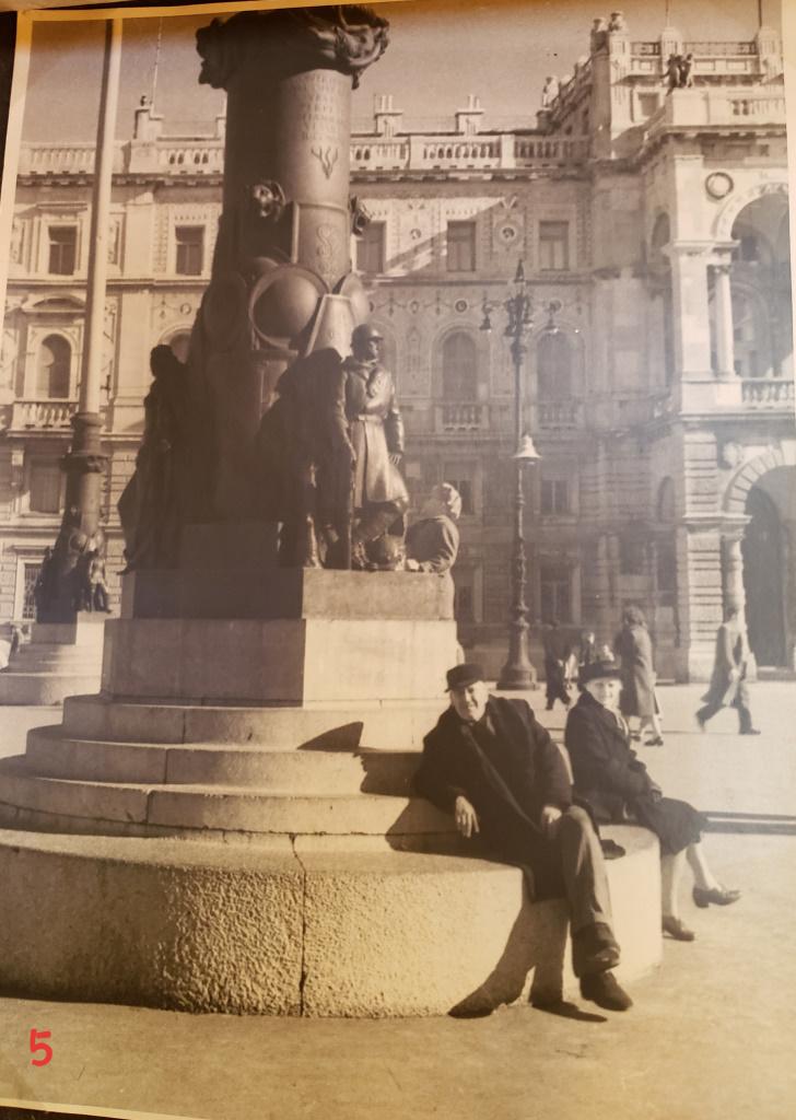 In Piazza Unità d'Italia [then], Trieste, Italy