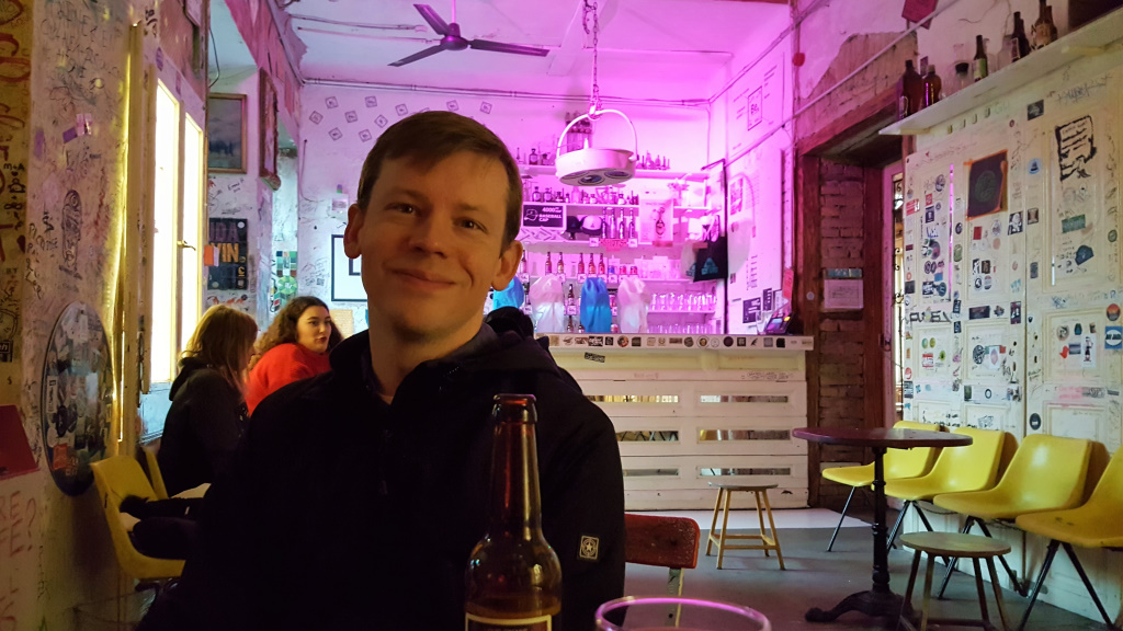 In a Ruin Bar, Budapest, Hungary