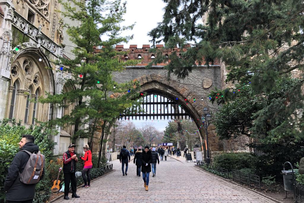 Vajdahunyad Castle in Winter, Budapest, Hungary