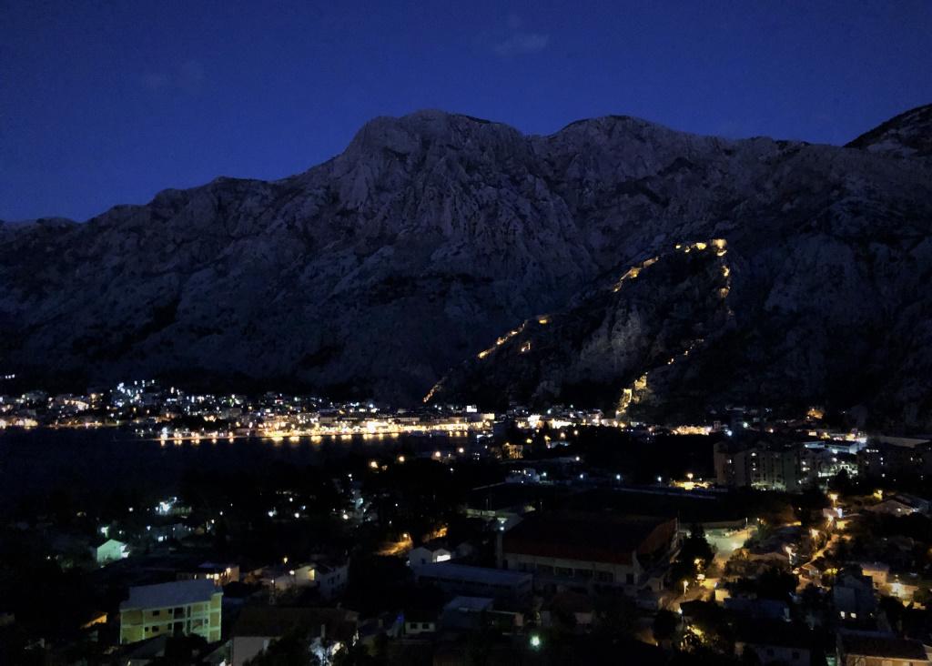 Kotor Fortress at Night, Montenegro