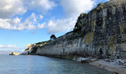 Old Fortress Sea Walls, Corfu, Greece