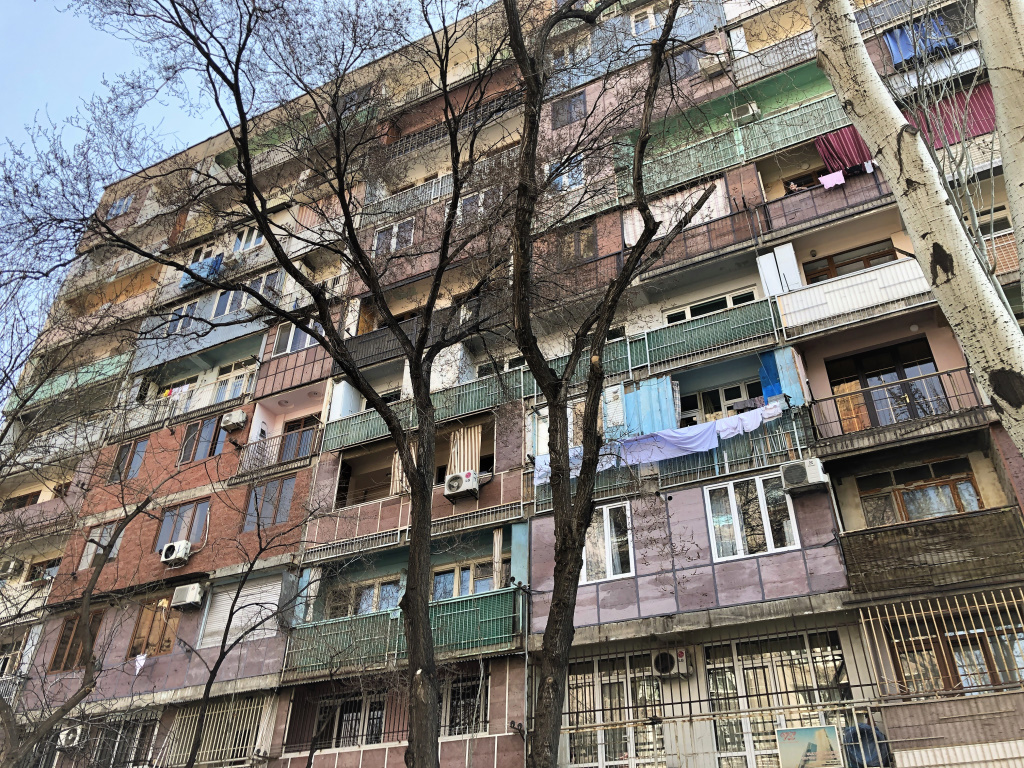Mottled Apartments, Yerevan, Armenia