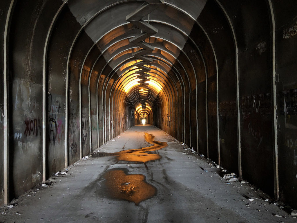 Slightly Creepy Tunnel, Yerevan, Armenia