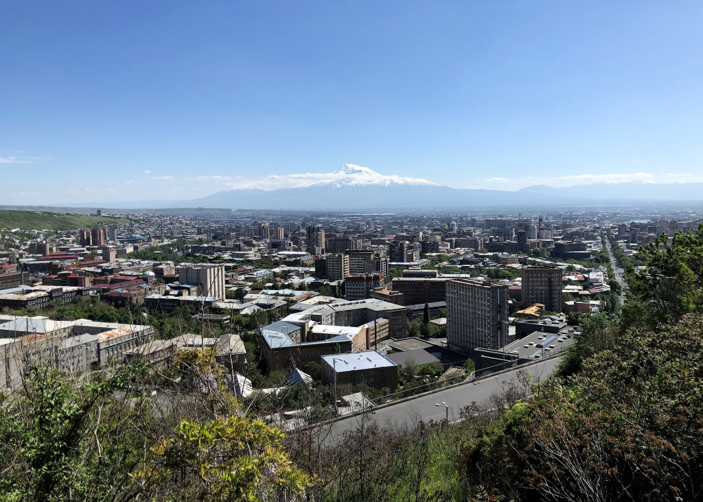 View from Victory Park, Yerevan, Armenia