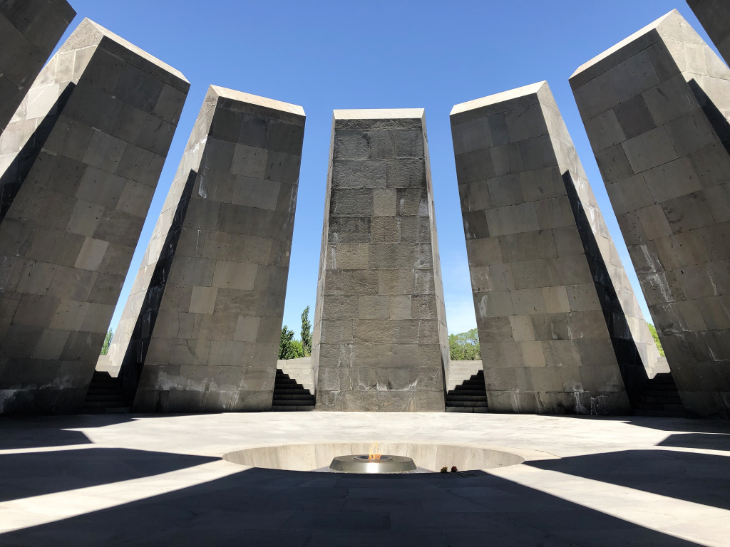 Eternal Flame of the Genocide Memorial, Yerevan, Armenia