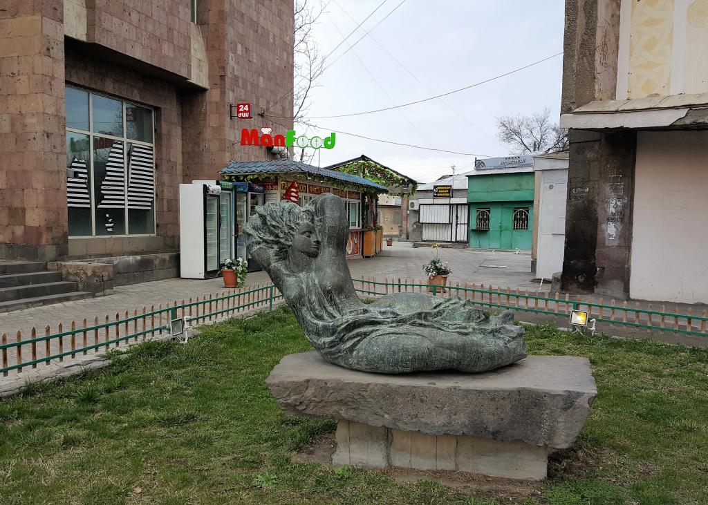 Man Food and Sculpture, Ejmiatsin, Armenia