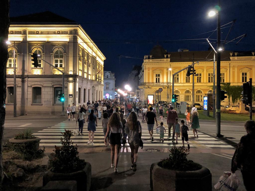 Crowds Despite Covid, Belgrade, Serbia