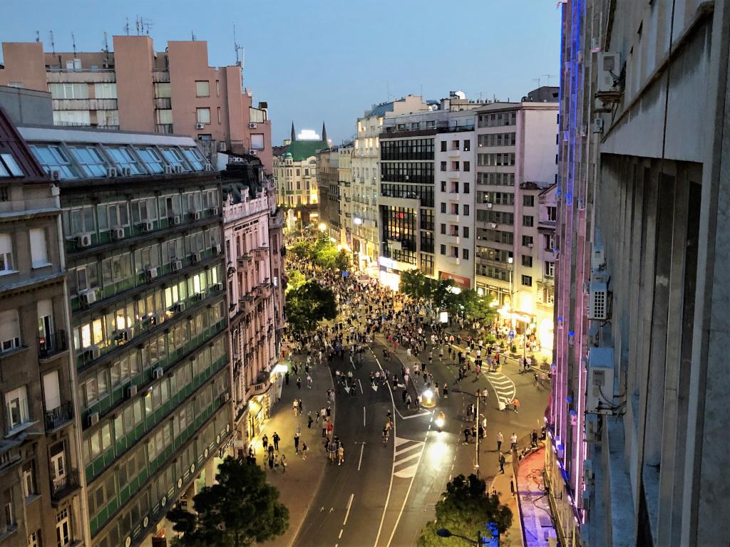 Protesters, Belgrade, Serbia